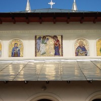 Fațadă mozaic - Mânăstirea Chiroiu