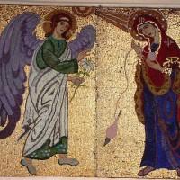 Buna Vestire - mozaic fațadă - Mânăstirea Chiroiu