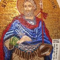 Sf. Mina - ic. frontispiciu - Mânăstirea Chiroiu