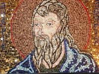 Sf. Agapie de la Agapia - mozaic M. Petru Vodă