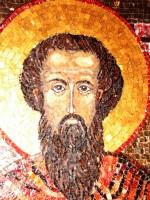 Ic. mozaic Sf. Ioan Iacob Hozevitul - detaliu