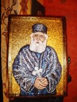 Părintele Paisie Sf. Munte Athos - micromozaic 70cm/50cm - colecție particulară
