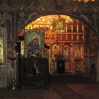 Icoana Mozaic Maica Domnului cu Pruncul - Biserica Mănăstirii Petru Vodă