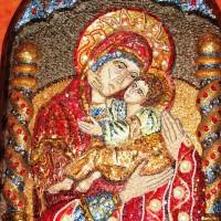 Icoană mozaic - detaliu