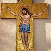 Troiță mozaic - sticlă Murano cu fonduri din aur